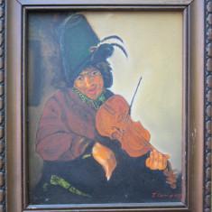 Tablou violonist semnat Cimpoesu