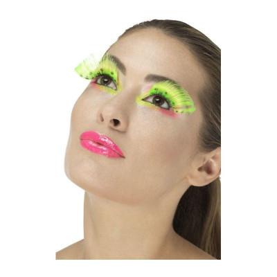 Gene false tip banda, verde neon cu buline, reutilizabile foto
