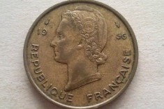 MONEDA 25 FRANCI 1956-AFRICA OCCIDENTALA foto