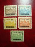GERMANIA 1956 VIGNETE MARPURGA SERIE COMPLETA MH/MNH, Nestampilat