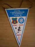 MCFA - FANION - STEAUA BUCURESTI - KUUSYSI LAHTI - CCE - 15 MARTIE 1986