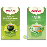 Ceai Verde cu Matcha si Lamaie Ecologic/Bio 17dz + Ceai Alb cu Aloe Vera Ecologic/Bio 17dz