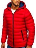 Cumpara ieftin Geaca de iarnă sport matlasată rosie Bolf JP1101