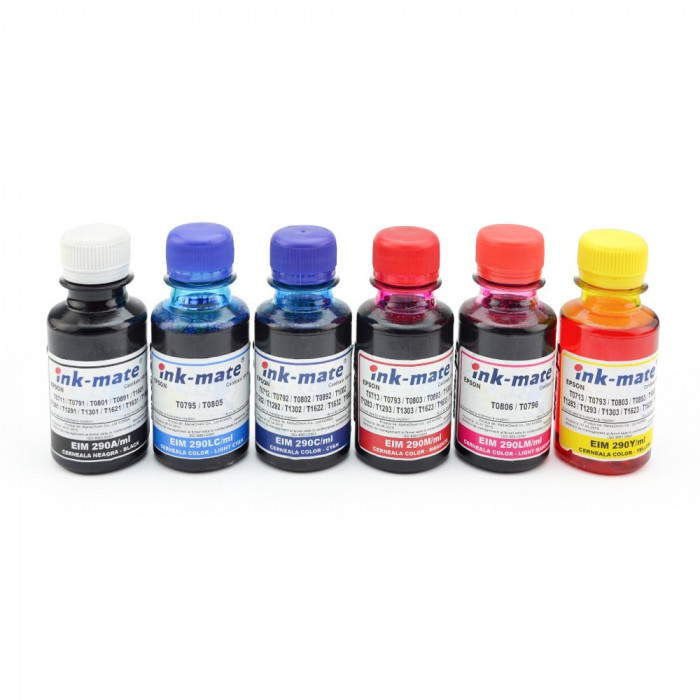 Cerneala refill CISS Epson in 6 culori