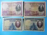 SPANIA  LOT 4 BANCNOTE 2X50 PESETAS 2X25 PESETAS - 1928 /  (99)