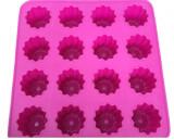 Forma silicon pentru 16 briose, mini tarte sau madlene, Mys Silicone, 23 cm, 23 cm, 5 cm, Roz