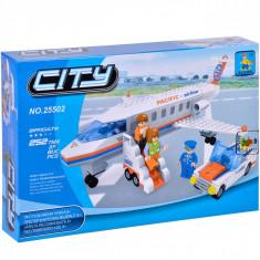 Set cuburi Lego,actual investing, model avion, 252 piese