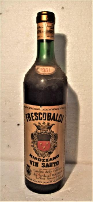 A 73 VIN ROSU FRESCOBALDI, NIPOZZANO VIN SANTO, CL 70 GR 18 RECOLTARE 1961