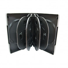 Carcasa pentru stocare 10 unitati (DVD, CD, Blu-ray) plastic neagra