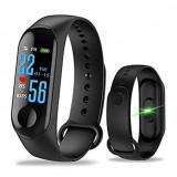 Cumpara ieftin Bratara Fitness Monitorizare Fizica Intelligence Health Bracelet M3
