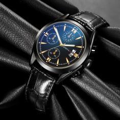 Cumpara ieftin Ceas Barbati Casual GENEVA Calendar Black Edition 2020 Fashion|Luxury|Business