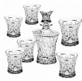 Set Whisky 6 Pahare si Sticla Patriot Cristal de Bohemia Cod Produs 204