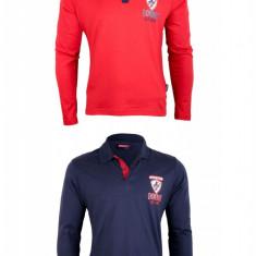Set 2 bluze polo Donnay, bumbac, pentru barbati, Bleumarin/Rosu