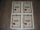 Lot 4 Brevete Regale pentru Inventii (3 din 1942 + 1 din 1941)