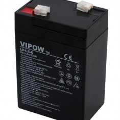 Acumulator stationar 6V 4.5Ah, Plumb Acid VRAL AGM Vipow