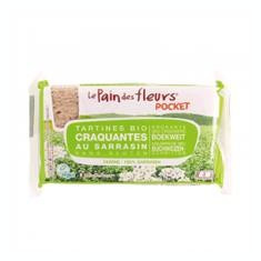 Tartine Crocante Bio Fara Gluten cu Hrisca Le Pain Des Fleurs 18.5gr Cod: 3380380080791