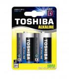 Baterie Toshiba Alkaline D R20 1,5V alcalina set 2 buc.