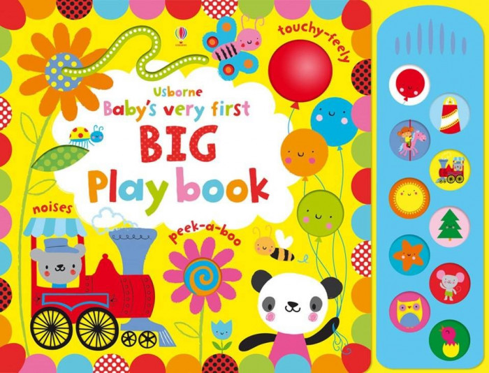 Babys Very First BIG Play book with sound panel - Usborne book (0+)