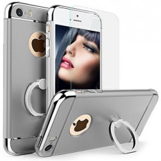 Carcasa telefon Iphone 6 Plus/6S Plus Grey Matte G Ring Folie Sticla Securizata