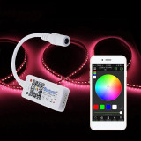 MINI CONTROLER BANDA LED RGBW CU BLUETOOTH SI APLICATIE DEDICATA, 5-24V