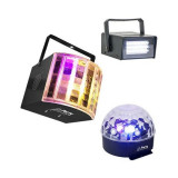 Cumpara ieftin Set Disco Party format din stroboscop, derby light si astro light