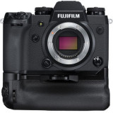 Aparate foto Mirrorless FUJIFILM X-H1 Body, 24MP, APSC, 4K cu Grip VPB-XH1, Negru