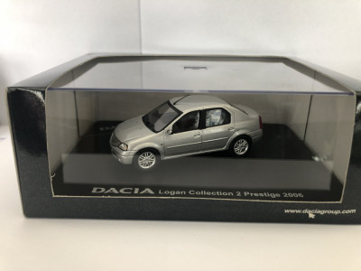 Macheta Dacia Logan Collection 2 Prestige 2006 Gri Eligor 1/43 foto