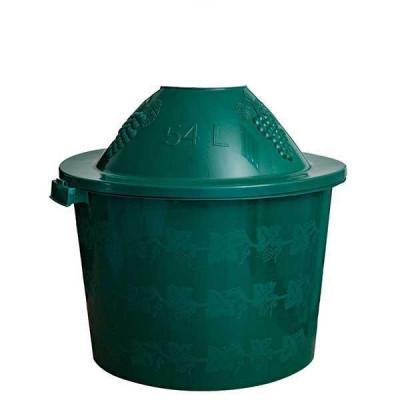 Cos Damigeana 54 litri din plastic verde foto