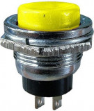 Push buton fara retinere, galben, 3A, 125V, 24x19mm - 124738