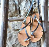 Cumpara ieftin Sandale Dama Model Traveller Piele Naturala Albastre - Curele Complet Ajustabile
