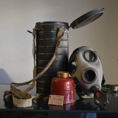 Masca de gaze , Concordia 1939 - model folosit de Armata Romana in WW2 completa foto