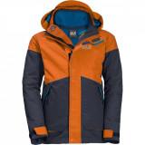 Geaca 3 in 1 Polar B Jack Wolfskin baieti, bleumarin/orange, marimea 152 cm
