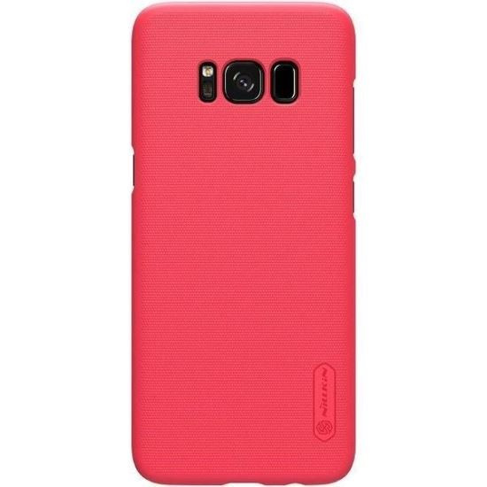 Husa Samsung Galaxy S8 Plus Folie ProtectieNillkin Frosted Shield Rosu