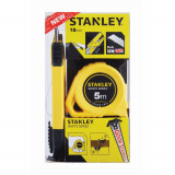 Kit promo Stanley ruleta 5M + cutter 19mm blister - STHT74253-8