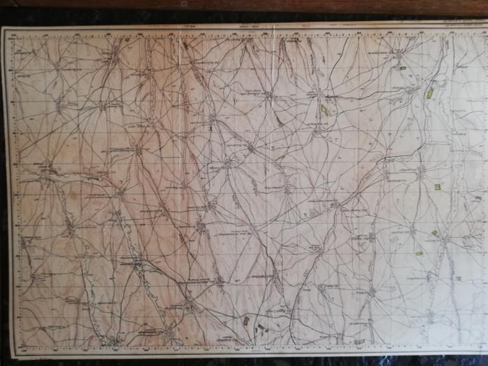 Harta militara Serviciul Geografic al armatei 1917, 70x90 cm,Bolgrad si Chilia