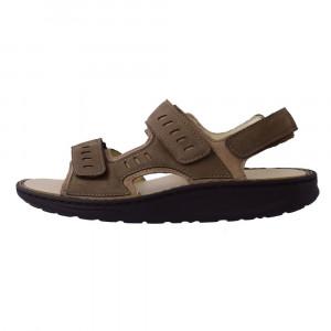 Sandale barbati, din piele naturala, marca Waldlaufer, 484001-03-04, bej , marime: 40.5