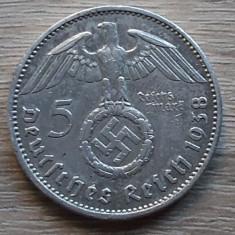 Moneda argint 5 mark 1938 Germania Reich