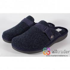 Papuci de casa bleumarini din lana - 191010