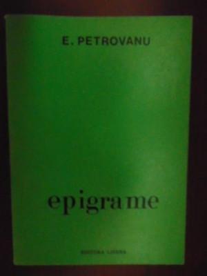 Epigrame- E. Petrovanu foto