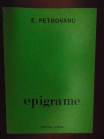 Epigrame- E. Petrovanu