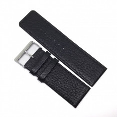 Curea de ceas Neagra - Antialergica - 26mm / 28mm - WZ3693