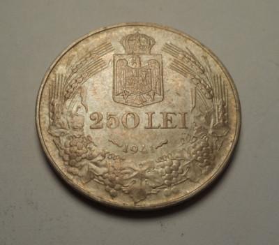 250 lei 1941 NSD Nihil Sine Deo AUNC UNC foto