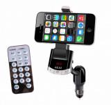 Modulator fm akai fmt-8118bt cu suport telefon bluetooth functieincarcare telefon si handsfree telecomanda