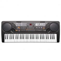 Orga electronica 61 clape USB MP3 2 boxe negru