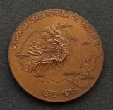 Medalie 1925 Societatea regala romana de geografie - Carol I - Ferdinand