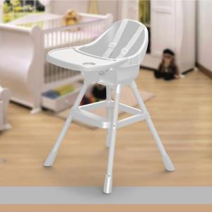 Scaun de masa bebe, centura in 3 puncte, suport pentru picioare, 90 x 70 x 60 cm, Alb