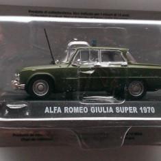 Macheta Alfa Romeo Giulia Super Carabinieri 1970 - Altaya 1/43