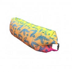 Saltea Gonflabila tip Sezlong Lazy Bag pentru Casa, Plaja sau Piscina + Rucsac Depozitare NP1