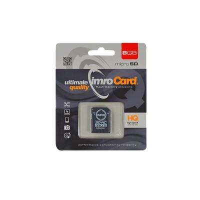 Card MicroSD 8GB + Adaptor Clasa 10 IMRO foto