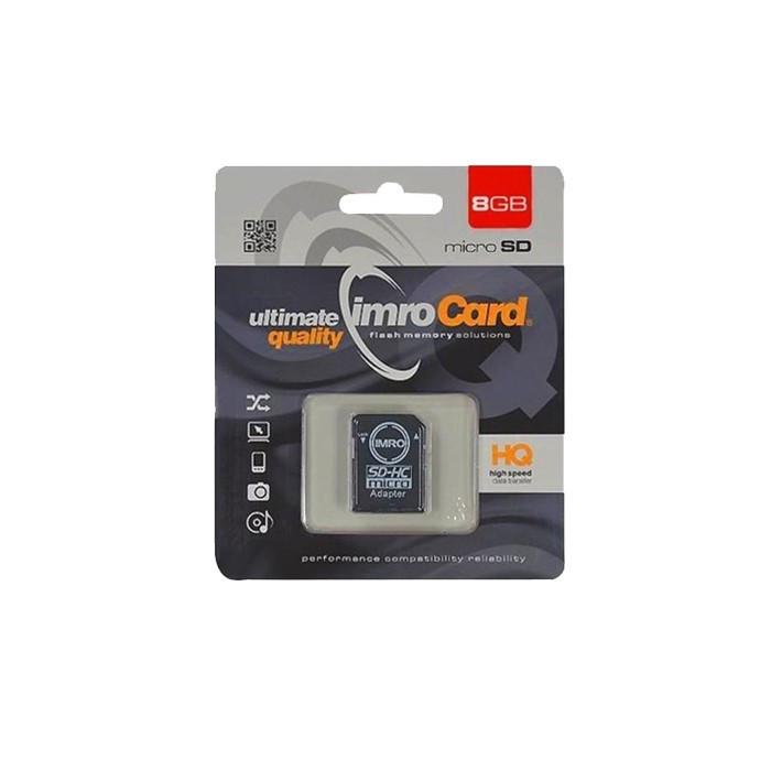 Card MicroSD 8GB + Adaptor Clasa 10 IMRO
